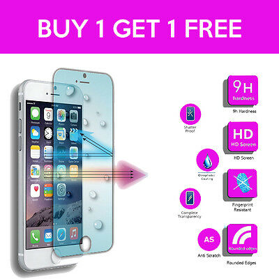 100% Genuine Clear Tempered Glass Screen Protector for Apple iPhone SE, 5S, 5 5C