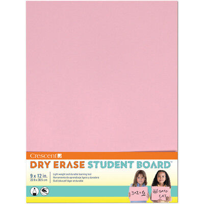 "Student Dry Erase Board 9""X12"" Pink 12-4-402"