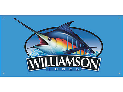 Advertising Display Banner for Williamson Fishing