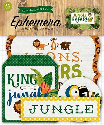 "Echo Park ""jungle Safari""  Ephemera Die Cuts Animals Zoo Scrapjack's Place"
