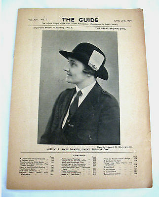 ORIGINAL 1934 GUIDE NEWSLETTER Olave B.P. London HQ Collectors GIFT