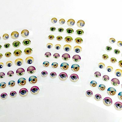 """""""3D"""" Coloured Eye Stickers - SELF-ADHESIVE - Choose Your Quantity!"""