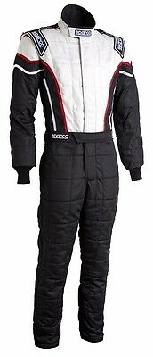 Sparco Pro Cup 2 Auto Racing Suit - Brand New - Black / White / Red - Size 52