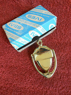 Vintage New Old Stock Guest Room Door Knocker Solid Brass by Leigh Ives