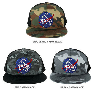 5853249ad2e NASA Insignia Space Emblem Embroidered Iron on Patch Snapback Trucker Mesh  Cap