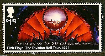 """""""Pink Floyd - The Division Bell Tour (1994)"""" on 2016 stamp - U/M"""