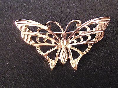 Pretty 9Ct Gold Butterfly Brooch