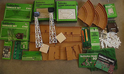 Subbuteo Collection Of Accessories  C142 C143 Stands Terraces TV Floodlights