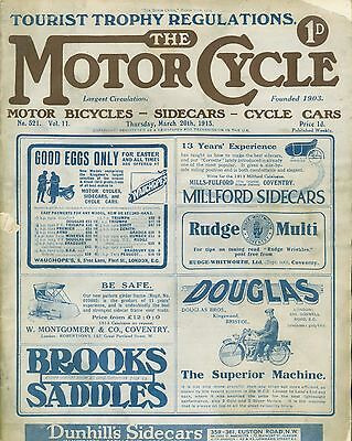 Motor Cycle1913 March 20 Cyclecar Club Non Stop Trial    8hp Two-Speed Cycle Car
