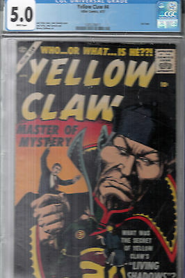 YELLOW CLAW #4 (Atlas, 1957) CGC 5.0 VG/FN  WP * J.Kirby story * J.Severin cover