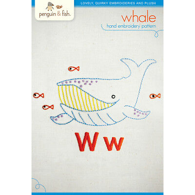 Penguin & Fish Embroidery Patterns Whale PF-PATNW