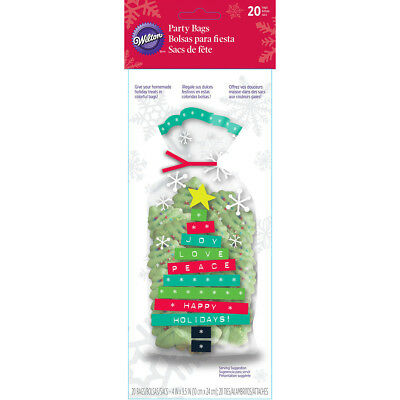 "Party Bags 4""X9.5"" 20/Pkg Merry & Bright Tree W27200"