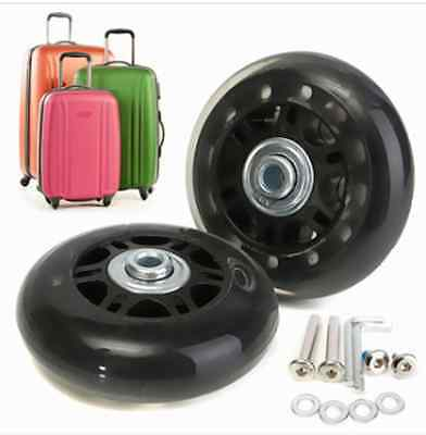 2pcs Luggage Suitcase Replacement Wheels Axles Deluxe Repair OD 70mm