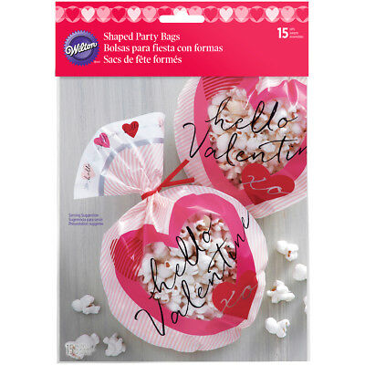 Shaped Treat Bags 15/Pkg Heartfelt Confections W125515