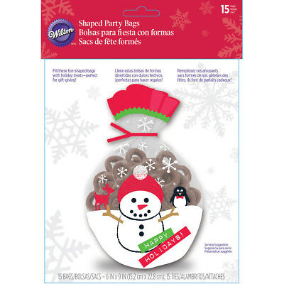 "Shaped Bags 6""X9"" 15/Pkg Merry & Bright Snowman W27202"
