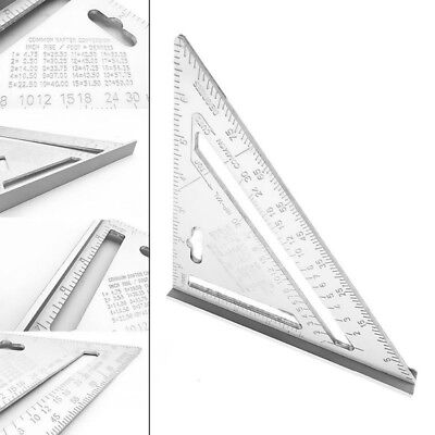 High Quality Aluminum Alloy Speed Square Protractor Miter Framing Measurement Ca