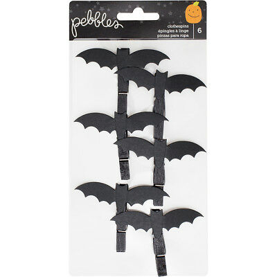 Trick Or Treat Clothespins 6/Pkg Bats 733174