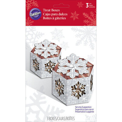 Mini Treat Boxes 3/Pkg Snowflake Wishes W7214