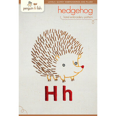 Penguin & Fish Embroidery Patterns Hedgehog PF-PATNH