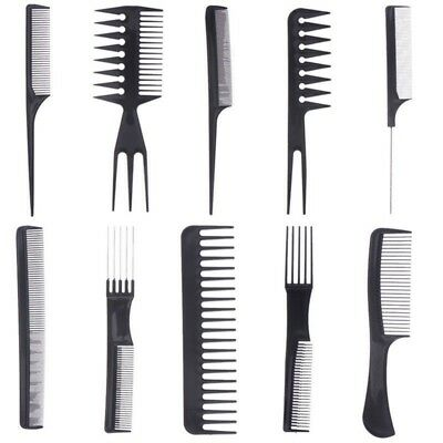 10pcs Make Up Comb Professional Hair Combs Set Anti-static Hair Care Hairbrush F