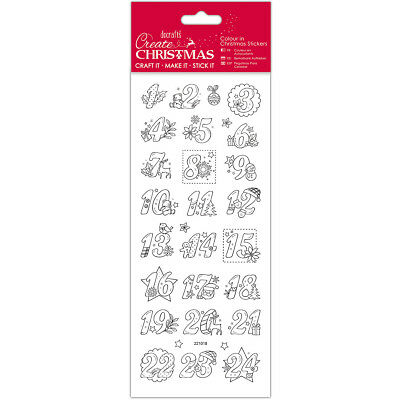 Papermania Create Christmas Colour In Stickers Advent Numbers PM804902