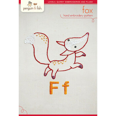 Penguin & Fish Embroidery Patterns Fox PF-PATNF