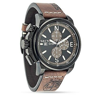 OROLOGIO SECTOR UOMO 450 CHRONO BLACK GENT WATCH R3271776007 (P.List. Eur 340)