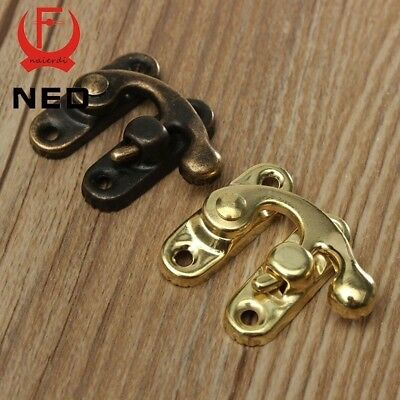 10PCS NED High Quality Small Antique Metal Lock Catch Curved Buckle Horn Lock