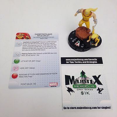 Heroclix Uncanny X-Men set Sabretooth and Wild Child (AoA) #063 Chase w/card!