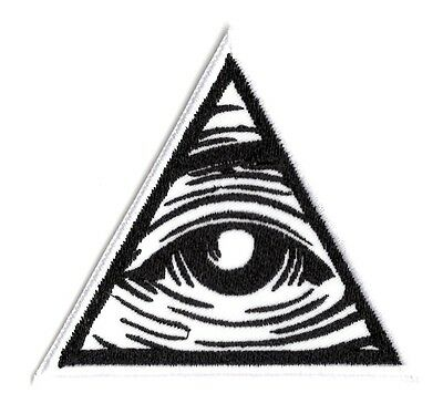All seeing eye illuminati god mason  Iron on Patch FREE NORTH AMERICA SHIPPING