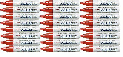24 Sanford Uni Paint PX-30 Broad Line Opaque Oil-Base Marker Red 63732 SEE NOTE