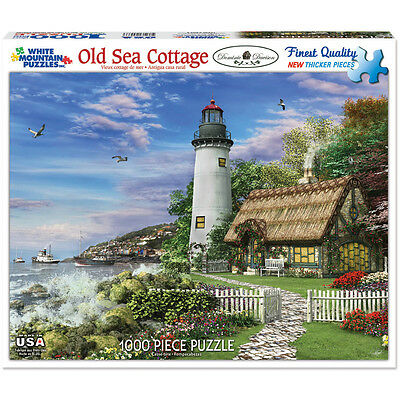 "Jigsaw Puzzle 1000 Pieces 24""X30"" Old Sea Cottage WM982"