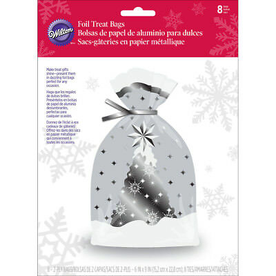 Foil Insulated Bags 8/Pkg Snowflake Wishes W27208
