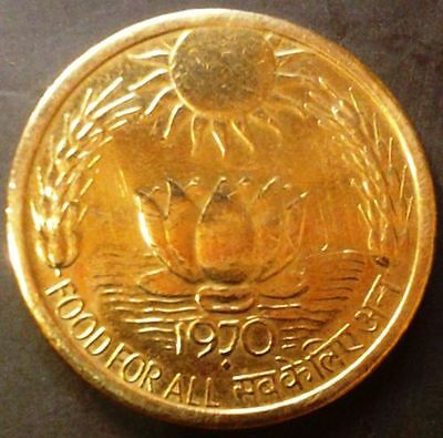 India-republic 20 Paise, 1970, Food For All, F.A.O.near a unc / b unc as per sca