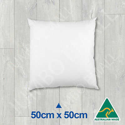Aust Made Cushion Insert Polyester Premium Lofty Fibre-50cm x 50cm