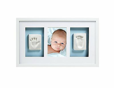 Pearhead Babyprints Baby Handprint and Footprint Deluxe Wall Photo Frame & Kit,