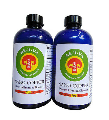 COLLOIDAL NANO COPPER High Potency-50 ppm OVER 1 MONTH SUPPLY