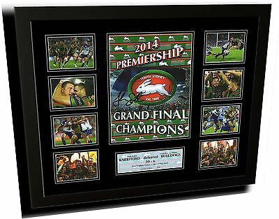 South Sydney Rabbitohs 2014 Nrl Signed Limited Edition Framed Memorabilia