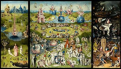 The Garden Of Earthly Delights, 1503 Hieronymus Bosch Giclee Canvas Print 39X22