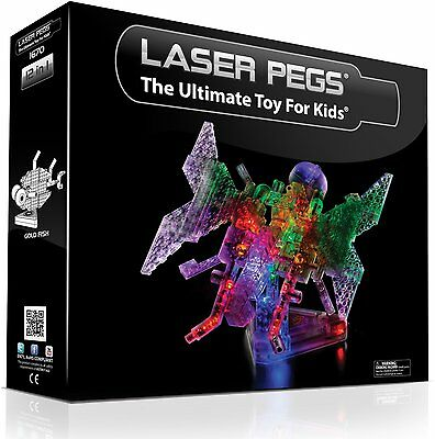 Laser Pegs 12 in 1 Butterfly Light Up Construction Set Kids Building Toy