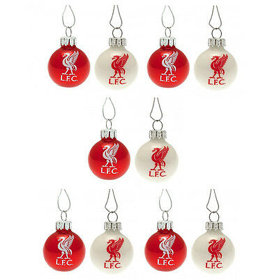 Liverpool FC Official Christmas Tree Baubles Decoration 10pk Xmas Gift