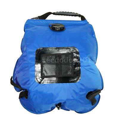 20 Liter SOLAR Camping Shower Portable Outdoor Hiking Water Sun Heated Camp Z9F6