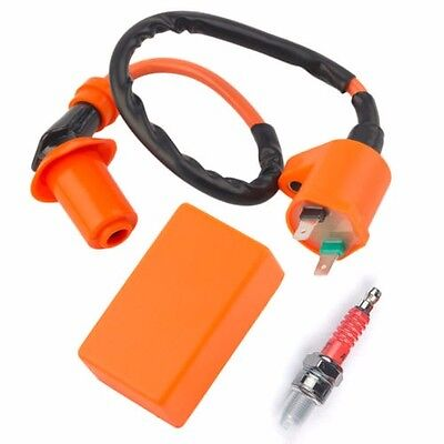 Motorcycle Racing Performance CDI+Ignition Coil +Spark Plug for Gy6 50/125/150cc