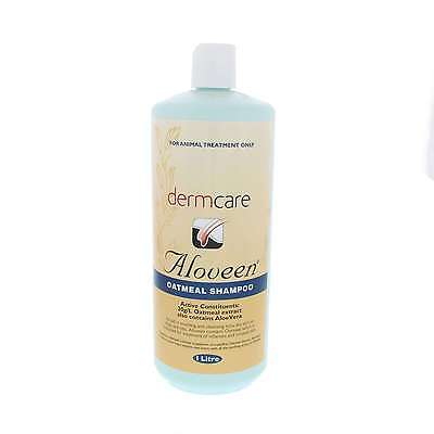Aloveen Oatmeal and Aloe Vera Soothing Shampoo Dermacare Horse Equine 1L