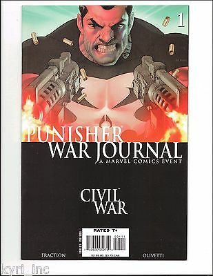 PUNISHER WAR JOURNAL #1 1st PRINT CIVIL WAR TIE-IN MARVEL COMIC 2007 S4