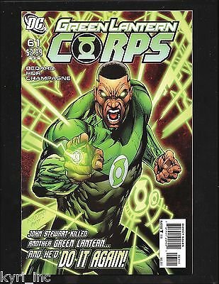 GREEN LANTERN CORPS #61 WAR OF THE GREEN LANTERNS AFTERMATH 1st PRINT DC COMICS