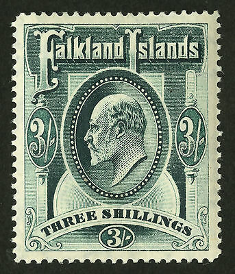 Falkland Islands  1904-07  Scott # 28  Mint Lightly Hinged