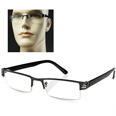 New Reading Glasses Metal Half-frame Reading Glasses Lens 1.0 to 4.0