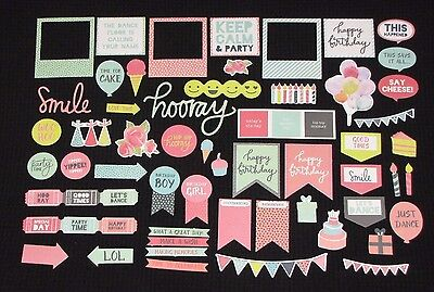 Kaisercraft 'PARTY TIME' Collectables Die Cut Shapes Birthday/Celebrate KAISER