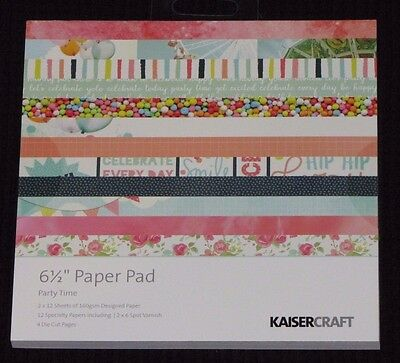 "Kaisercraft 'PARTY TIME' 6.5"" Paper Pad Birthday/Celebration/New Year KAISER"
